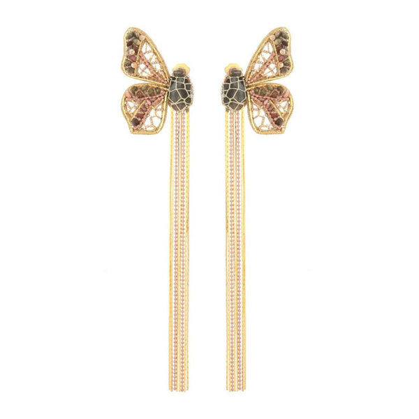Deepa Gurnani Handmade Wilhelmina Butterfly Earrings Gold