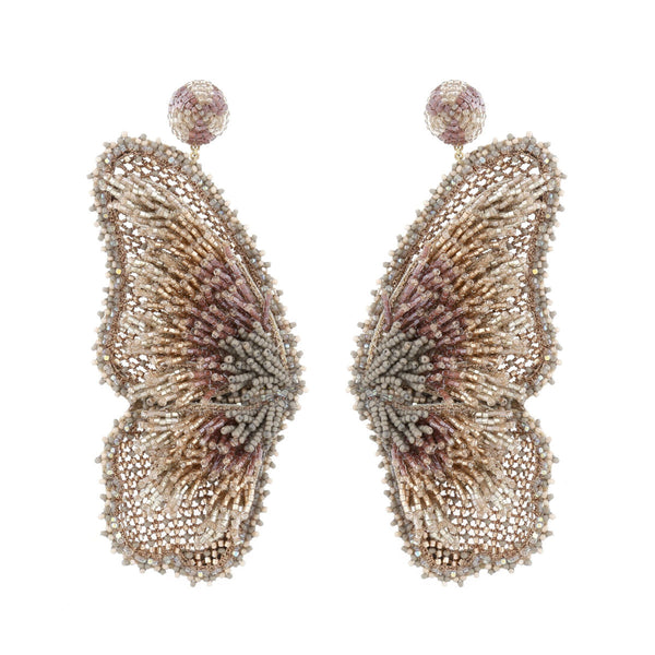 Deepa Gurnani Handmade Kehlani Butterfly Earrings Gold