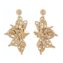 Deepa Gurnani Handmade Truly Earrings Gold