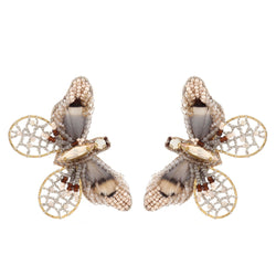 Deepa Gurnani Handmade Cate Butterfly Earrings Gold