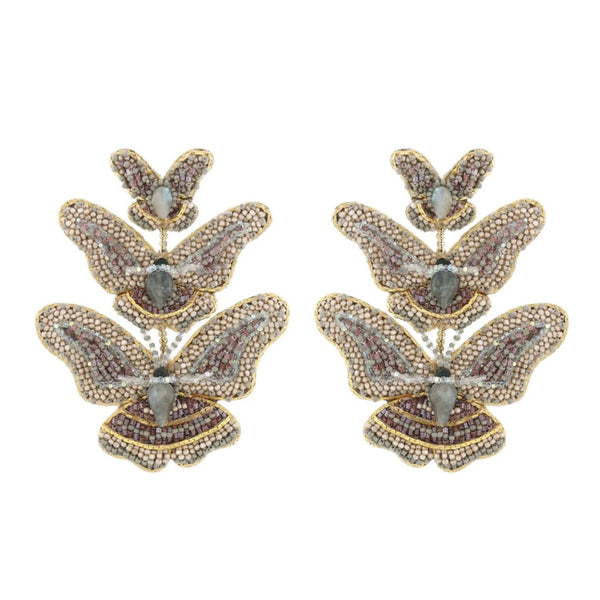 Deepa Gurnani Handmade Rainey Butterfly Earrings Gold