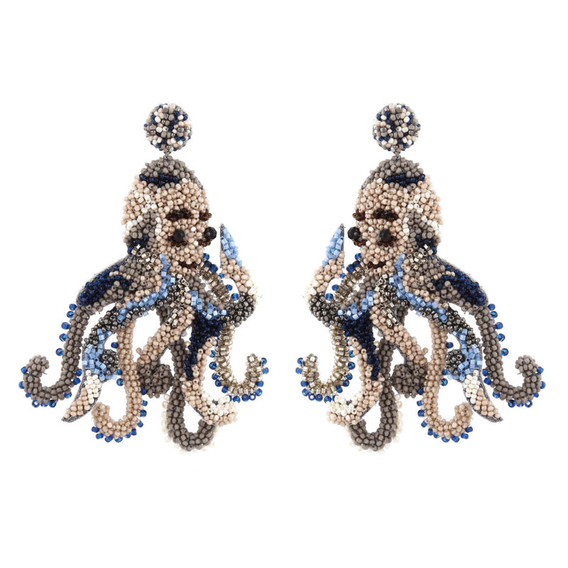 Deepa Gurnani Handmade Octopus Earrings