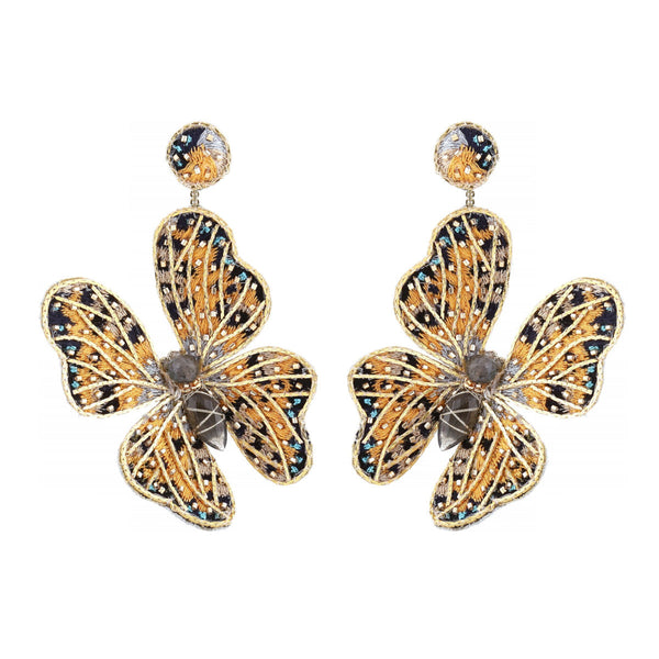 Deepa Gurnani Handmade Butterfly Earrings