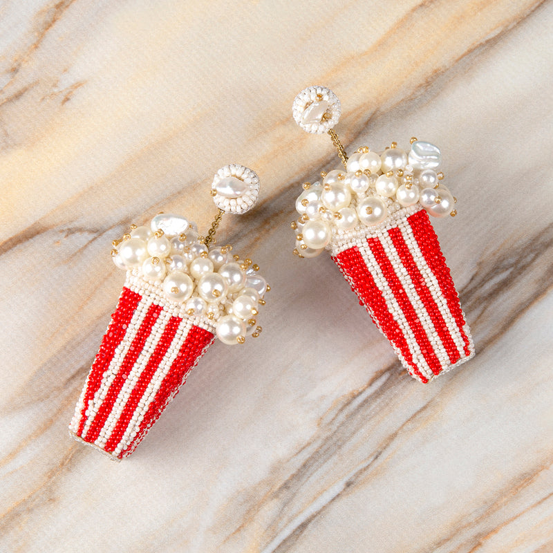 Deepa Gurnani's Popcorn Earrings are movie night essentials