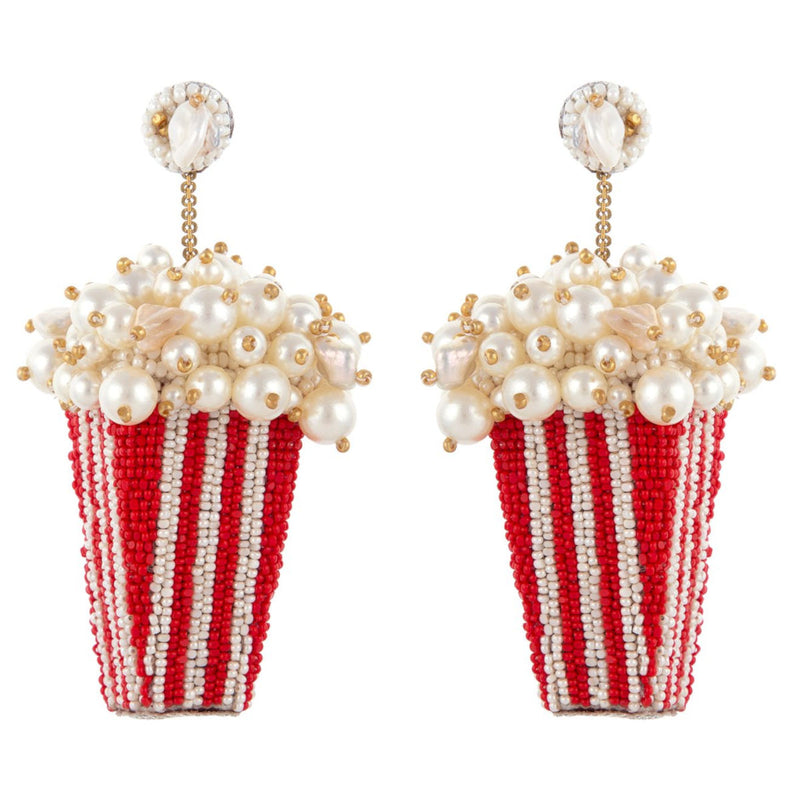Deepa Gurnani Handmade Popcorn Earrings