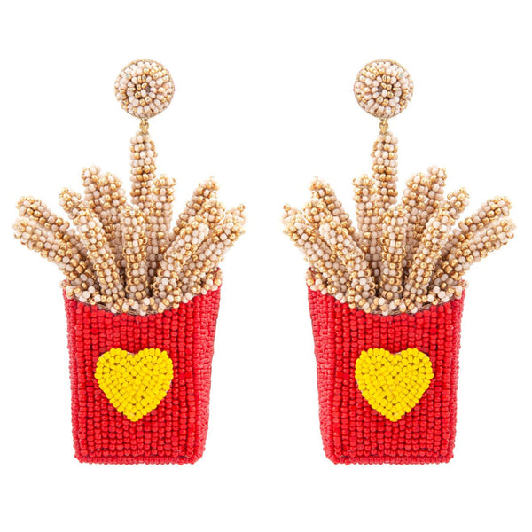 Deepa Gurnani Handmade French Fries Earrings