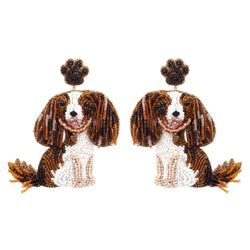 Deepa Gurnani Handmade Dog Earrings