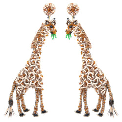 Deepa Gurnani Handmade Giraffe Earrings