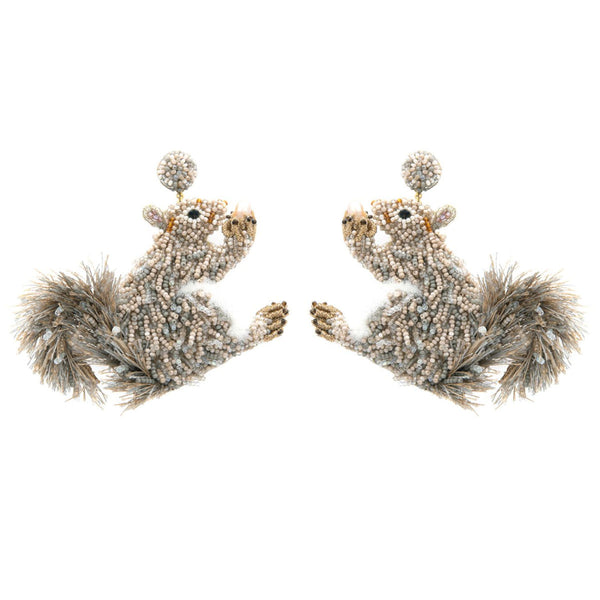 Deepa Gurnani Handmade Squirrel Earrings