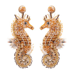 Deepa Gurnani Handmade Sea Horse Earrings