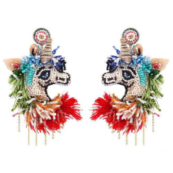 Deepa Gurnani Handmade Unicorn Earrings