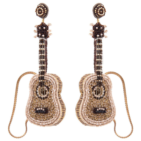 Deepa Gurnani Handmade Guitar Earrings
