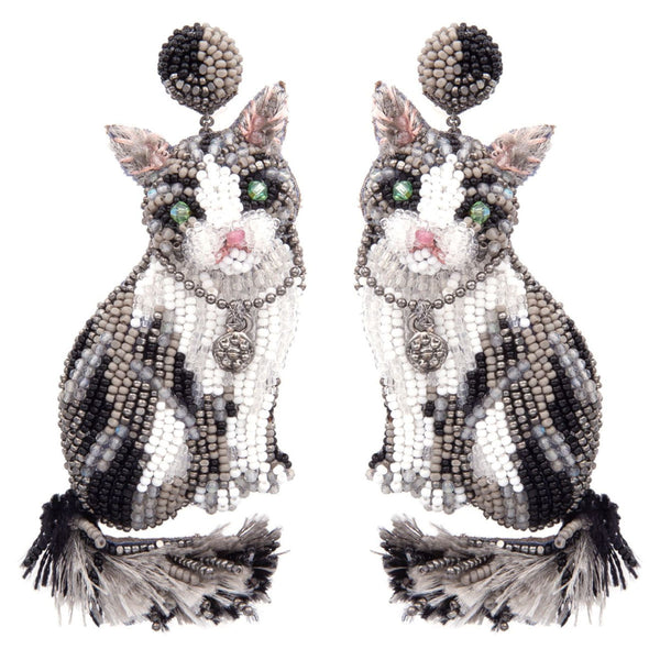 Deepa Gurnani Handmade Cat Earrings