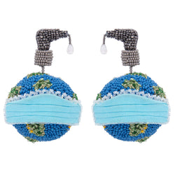 Deepa Gurnani Handmade Globe Earrings