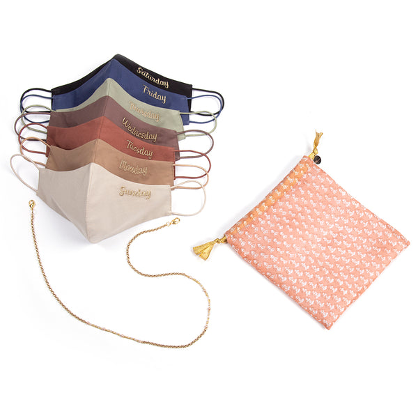 Women's Weekday Masks Set