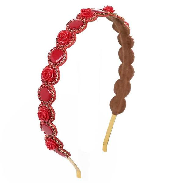 Deepa by Deepa Gurnani Handmade Aya Headband in Red