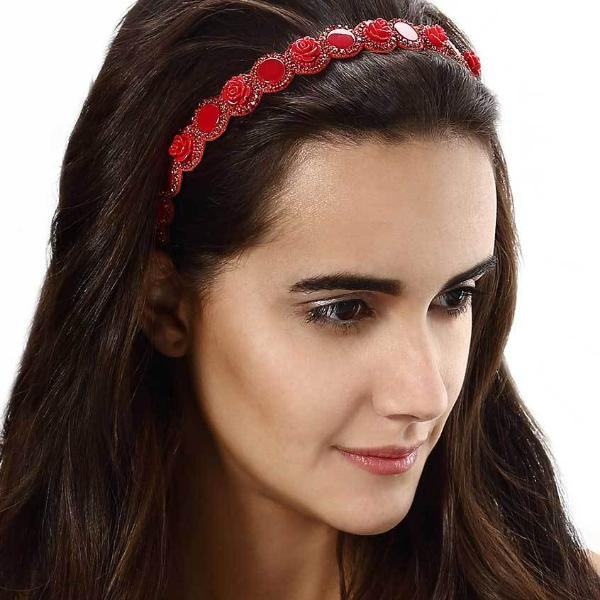 Model Wearing Deepa by Deepa Gurnani Handmade Aya Headband