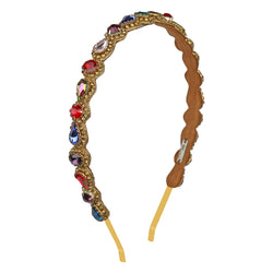 Deepa by Deepa Gurnani Handmade Coraline Headband in Multicolor