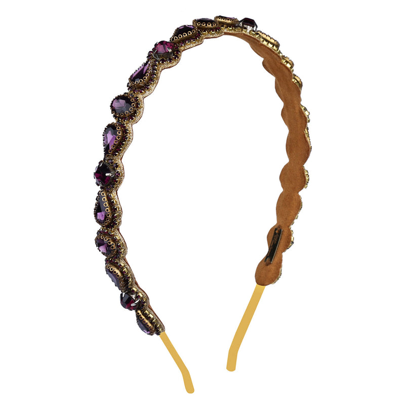 Deepa by Deepa Gurnani Handmade Coraline Headband in Purple