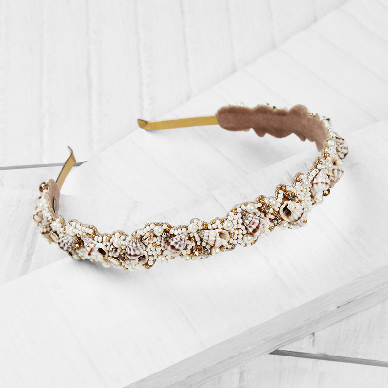 Deepa by Deepa Gurnani Handmade Lillian Headband on Wood Background