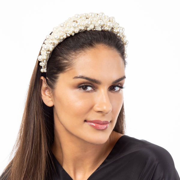 Handmade luxury pearl headband