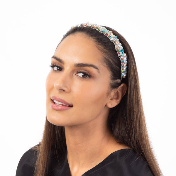 Our Adreanna Headband's colorful design will always perk things up.