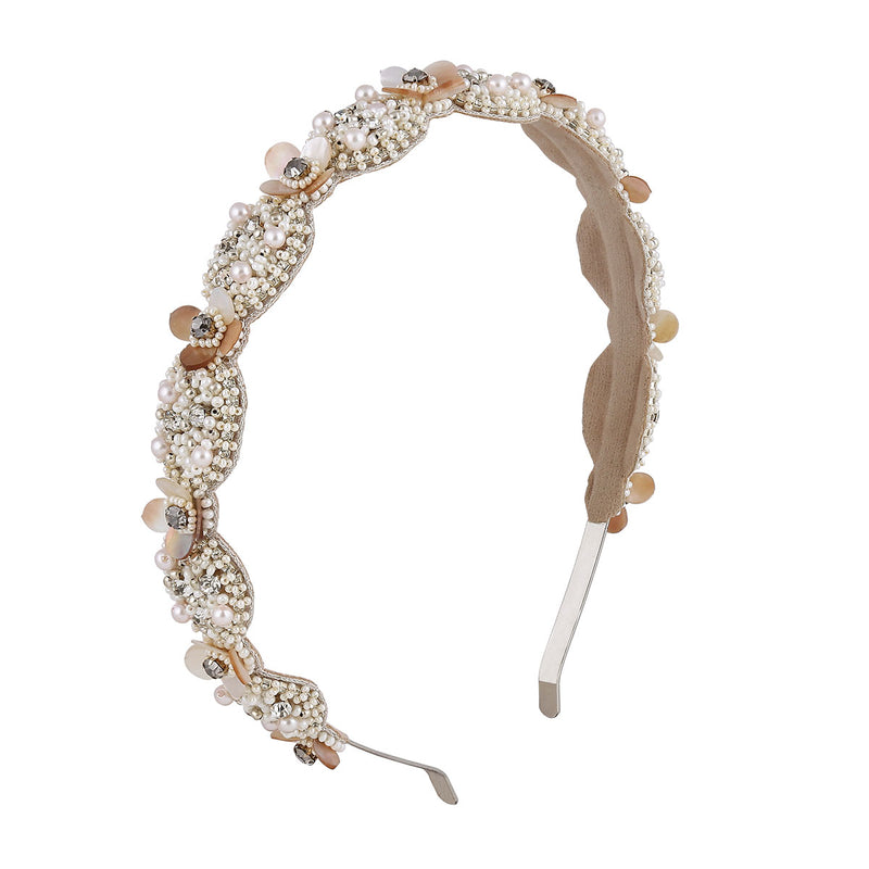 Handmade Beaded Pearl Headband