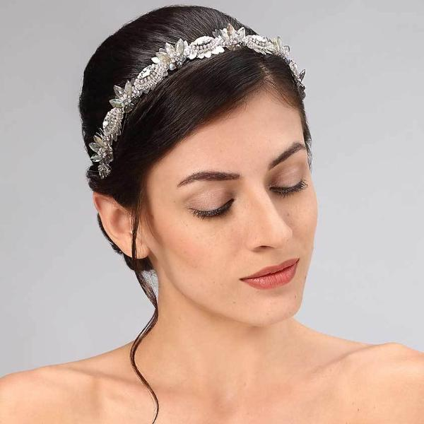Model Wearing Deepa Gurnani Handmade Yasmin Headband