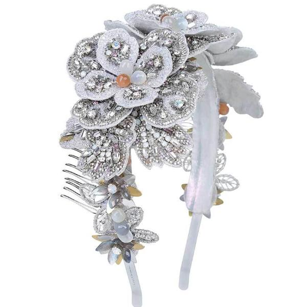 Deepa Gurnani Handmade Luxury Bridal Hair Band With Stone