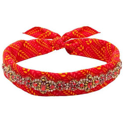 Deepa by Deepa Gurnani Handmade Dolly Bandana in Red