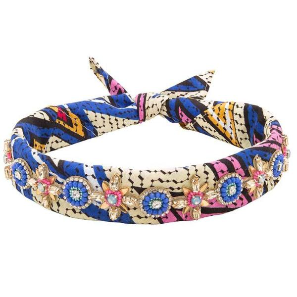 Deepa by Deepa Gurnani Handmade Amal Bandana in Multi Color