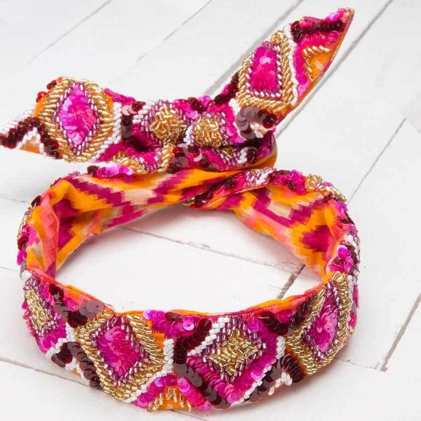 Deepa by Deepa Gurnani Handmade Ali Wire Headwrap on Wood Background