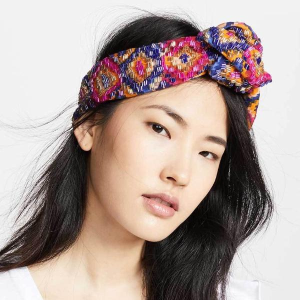Model Wearing Deepa by Deepa Gurnani Handmade Amalia Wire Headwrap