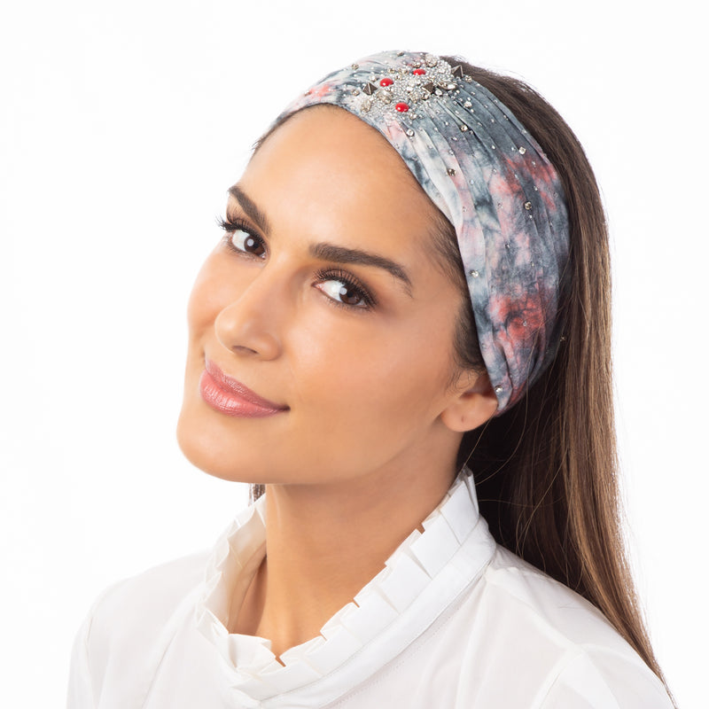 Everyday wear hand embroidered headwrap