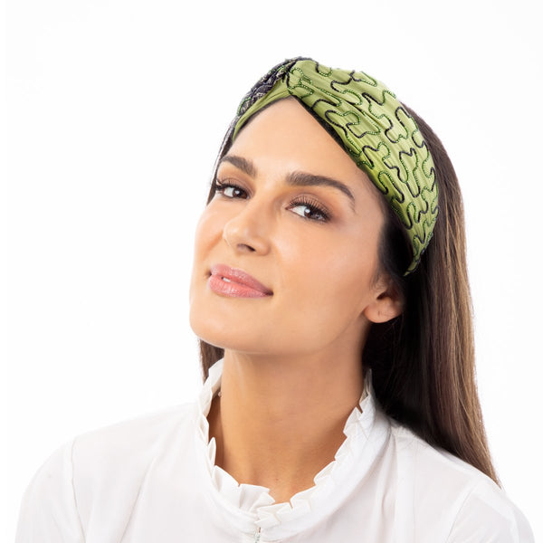 The Raeiel Headwrap is the all-in-one hair accessory.