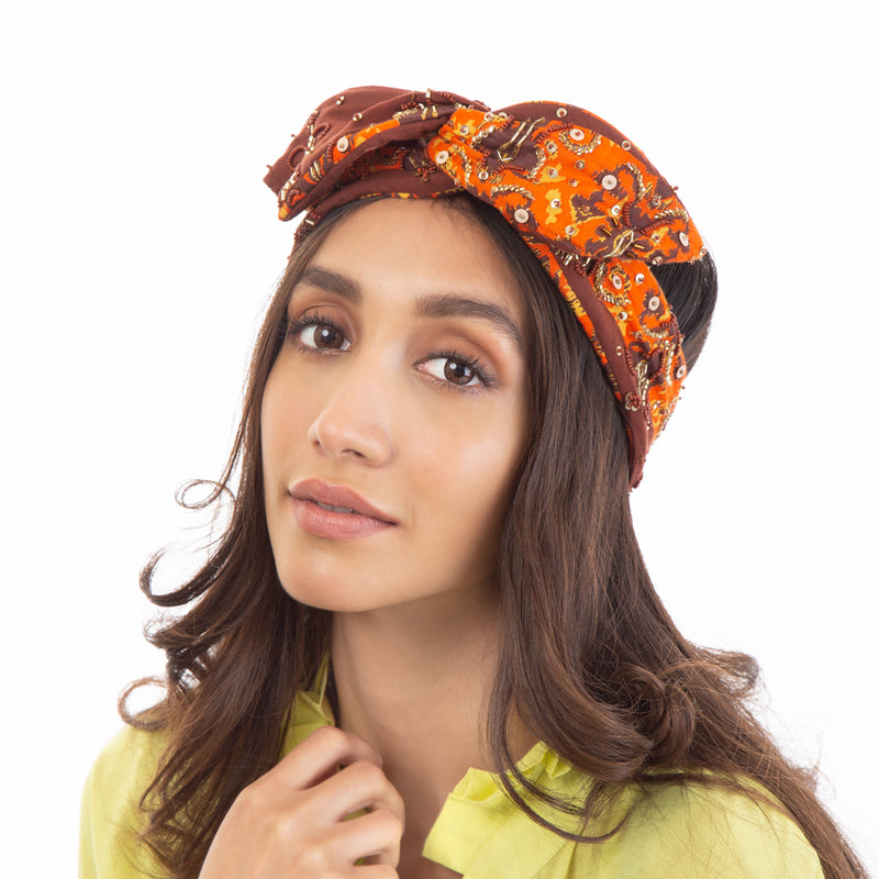 Hand Embroidered Headwrap. The perfect hair accessories for spring.