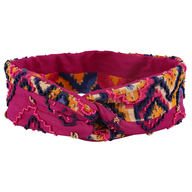 Deepa by Deepa Handmade Willo Headwrap Fuchsia