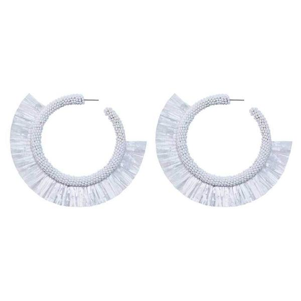 Deepa by Deepa Gurnani Handmade White Haddie Earrings