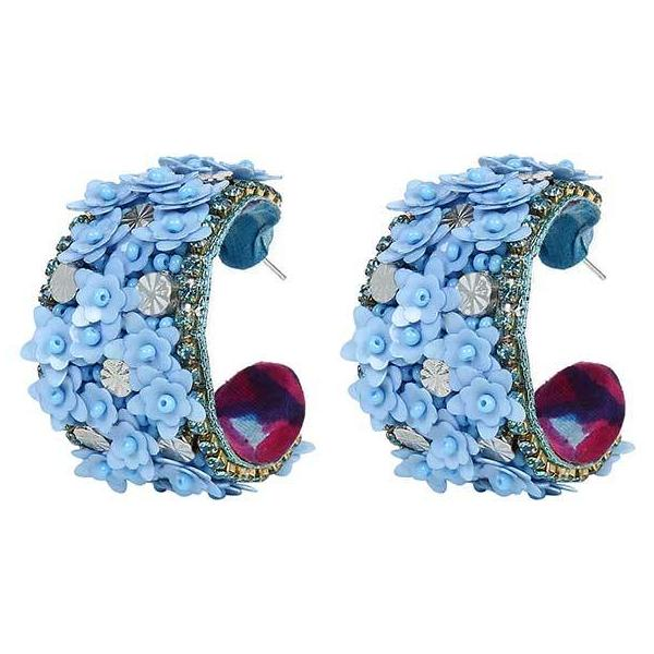 Deepa by Deepa Gurnani Handmade Raquel Earrings in Sky Blue
