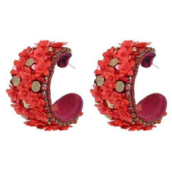 Deepa by Deepa Gurnani Handmade Raquel Earrings in Red