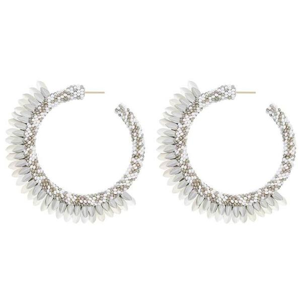 Deepa by Deepa Gurnani Handmade Shaylee Hoop Earrings in White
