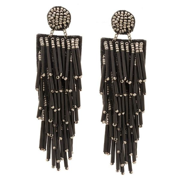Deepa by Deepa Gurnani Handmade Lightweight Black Alvie Earrings