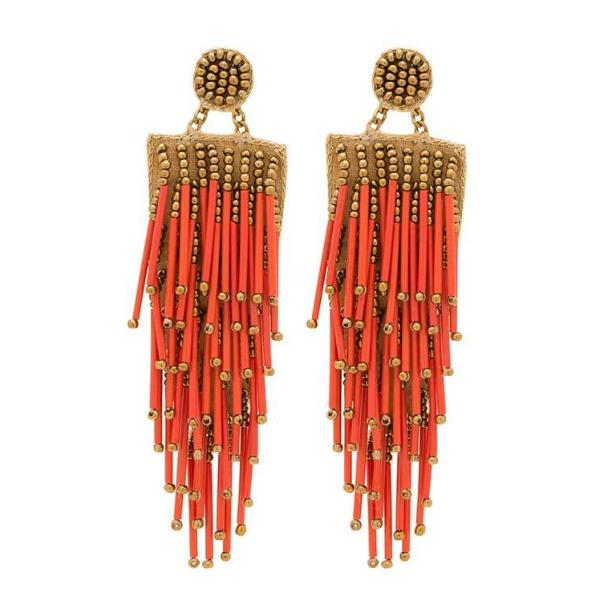 Deepa by Deepa Gurnani Handmade Lightweight Coral Alvie Earrings