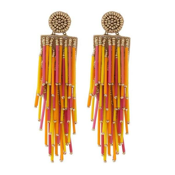 Deepa by Deepa Gurnani Handmade Lightweight Orange Color Alvie Earrings