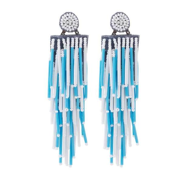 Deepa by Deepa Gurnani Handmade Lightweight Sky Blue Alvie Earrings