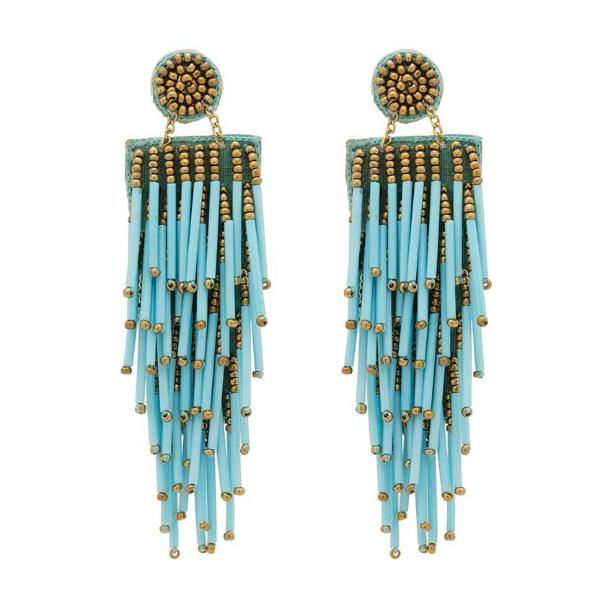 Deepa by Deepa Gurnani Handmade Lightweight Turquoise Alvie Earrings