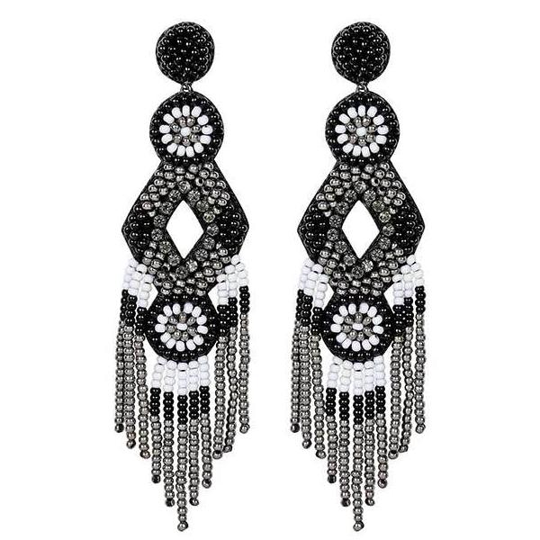 Deepa by Deepa Gurnani Handmade Black Bridget Earrings