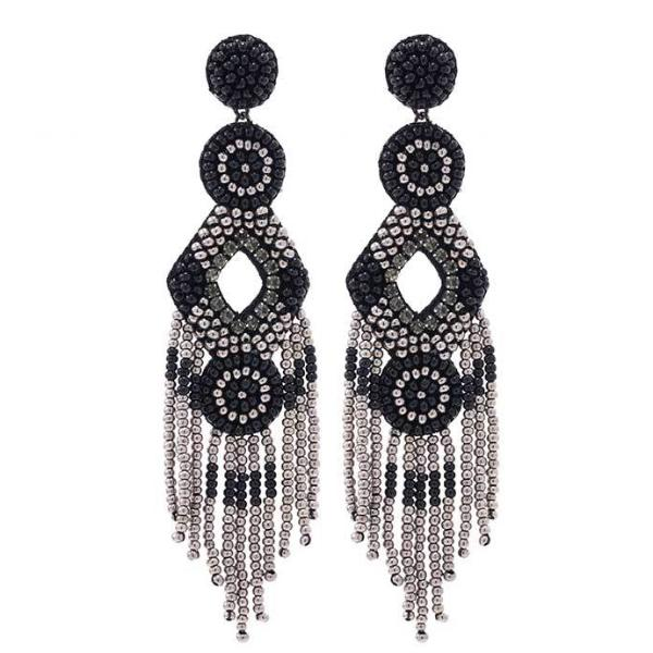 Deepa by Deepa Gurnani Handmade Gunmetal Color Bridget Earrings