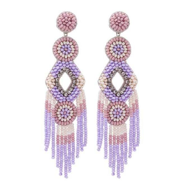 Deepa by Deepa Gurnani Handmade Lavender Bridget Earrings