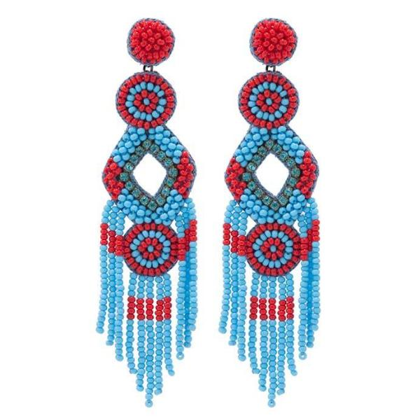 Deepa by Deepa Gurnani Handmade Turquoise Bridget Earrings